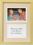 Home Decor Decorative Wall Quote Beach Sign Summer 5x7 Photo Frame- Memories Are Made At the Beach
