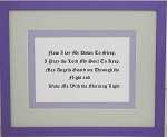 Wall Decor Childrens Bed Time Prayer Christian Saying Framed 11.5 x 9.5