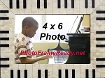 Music Piano Keyboard Photo Frame 4x6 Table Top Photo Frame