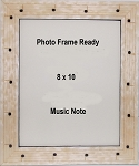 Table Top Music Note Staff Photo Frame 8x10