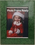 Table Top Photo Frame Green Wood 5x7