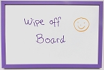 Purple Violet Dry Erase Wipe Off Board with wood frame 11x17