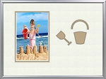 Childrens Sand Pail or Sand Bucket & Shovel Beach Summer infant Photo Frame 8 x 10 hold 4 x 6 photo