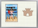 Childrens Beach Sand Castle Summer Table Top Photo Frame 8x10 Hold 4x6 Photo