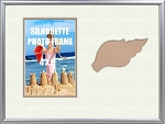 Childrens Nautical Sea Shell Beach 8x10 Table Top Photo Frame Holds 4 X 6 Photo
