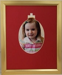 Christmas Holiday Ornament Photo Frame Holds 5x7 Picture Overall 8x10 Wall Mount