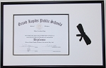 High School 6x8 Certificate diploma frame with scroll Silhouette