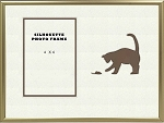 Brown Animal Cat and Mouse Pet Photo Frame Table Top 8x10 Holds 4x6 Photo Opening