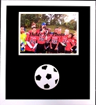 Wall mount picture frame black and white Soccer Ball Wood Frame for 5x7 Photo Novelty Photo Frame
