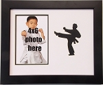 Wall Hanging Martial Arts Karate 9.5x11.5 Black and White Photo Frame Holds 4x6 Photo