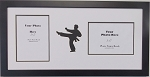 Wall Hanging Karate, Martial Arts Double Photo Frame Holds Two 5x7 Photos Black Frame