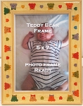 Baby Infant Childrens Teddy Bear 5x7 Table Top Photo Frame