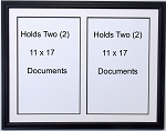 Custom Picture frame double document 11x17 black and white