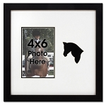 4x6 Photo Opening Black Horse Photo Frame