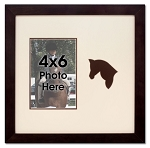 Brown Horse Equestrian Photo Frame Holds 4x6 Photo Brown Wooden Frame