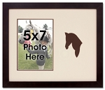 Brown Horse Equestrian Photo Frame for 5x7 Photo