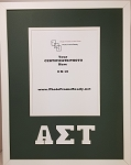 Alpha Sigma Tau Sorority Standard Wall Mount Frame for 8x10 Certificate or Document green and white
