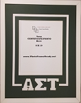 Alpha Sigma Tau Sorority Delux Wall Mount Frame for 8x10 Certificate or Document green and white