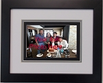 Triple mat Black and Grey 4x6 photo opening wall mount