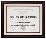 Law Degree Certificate License 16 x 20 Double Mat with Magahony Frame