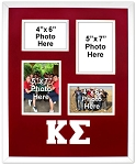 Kappa Sigma Fraternity 16x20 memory collage frame for two(2) 5x7 and two(2) 4x6 photos