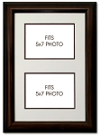 Wall Mount Double Photo Frames Multi-mat Holds Two(2) 5x7 Photos