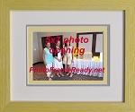 Picture Frame Wall Mount 5x7 Triple Mat Yellow Wood Photo Frame