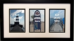 Collage Picture Frame three 3 Openings 5x7 multi photo frame Black and White