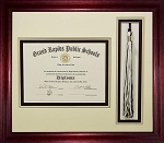 High School Graduation Certificate Document 6x8 with Tassel Opening Triple mat Custom Picture Frame Unit