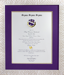 White with Gold Sorority Recognition Document Frame to hold an 8x10 Certificate
