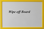 Yellow Wood Dry Erase Wipe Off Board with wood frame 11x17