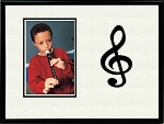 Treble Clef Music Photo Frame 8 X 10 holds 4 X 6 Photo Black & White