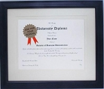 Graduation Diploma Certificate University College 8-1/2 x 11 Matted BLACK Frame