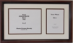 Graduation University Diploma Certificate Photo Frame Matted Holds 9x7 Certificate with 5x7 Photo Opening Brown Frame