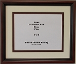 Graduation University Diploma Certificate Picture Frame Matted Holds 9x7 Certificate Brown-Red Frame