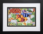 Vegetable Collage Food Kitchen Art Wall Decor Print 14x11.25 Black Frame