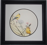 Audubon Yellow Finch Wildlife Nature Print  11 x 11  Wall Decor