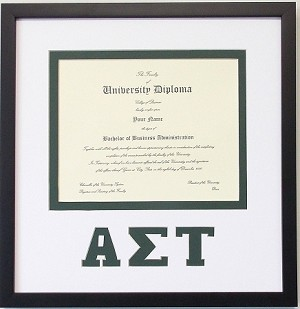 Alpha Sigma Tau Certificate Document Frame
