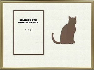 Animal Brown Cat Pet Photo Frame Table Top 8x10 Holds 4x6 Photo Opening