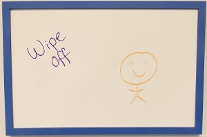 Purple Dry Erase Board-Hangs Horizontal