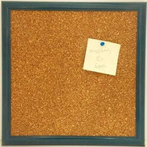 Red Cork Board 12x12